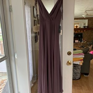 DUSTY PURPLE BACKLESS MAXI DRESS